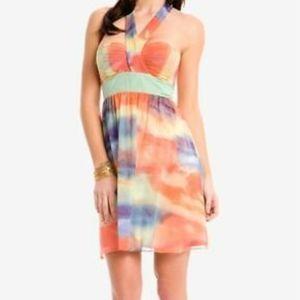 Marciano 100% Silk Halter Mini Dress
